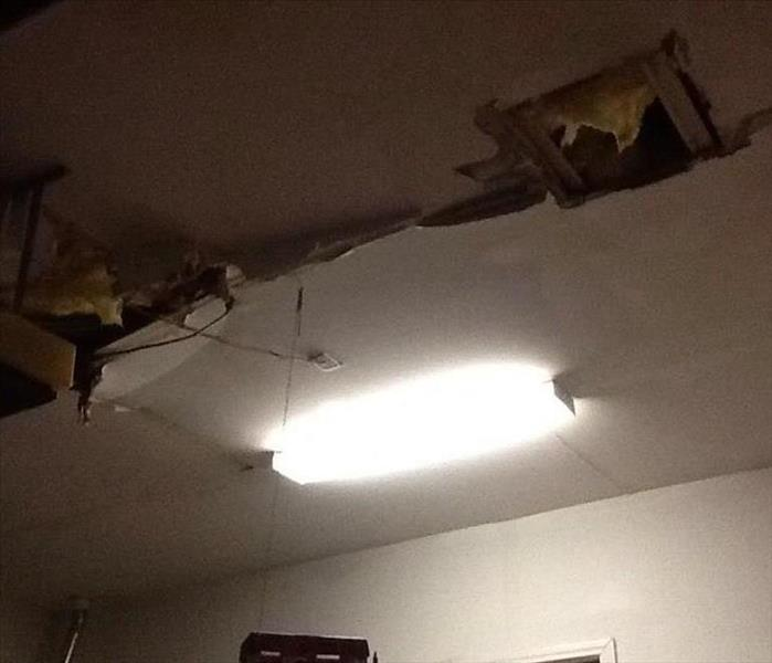 Ceiling Falls Down Thanks To Storm Before