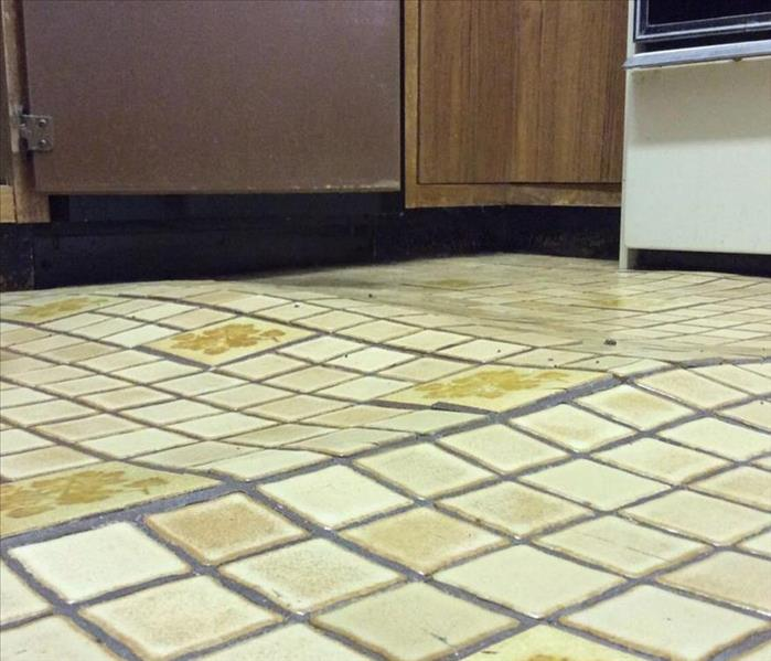 Warping Tile Floor