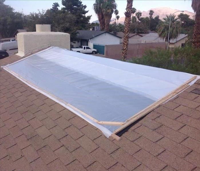 Storm Damage Missing Shingles or Broken Tiles? You may need a roof tarping.