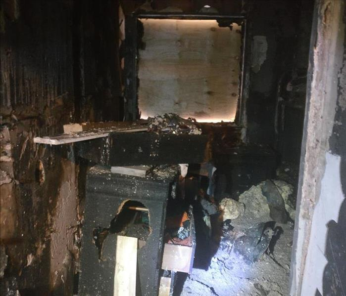 Fire Damage Small Apartment Catches Fire Due To Fireworks