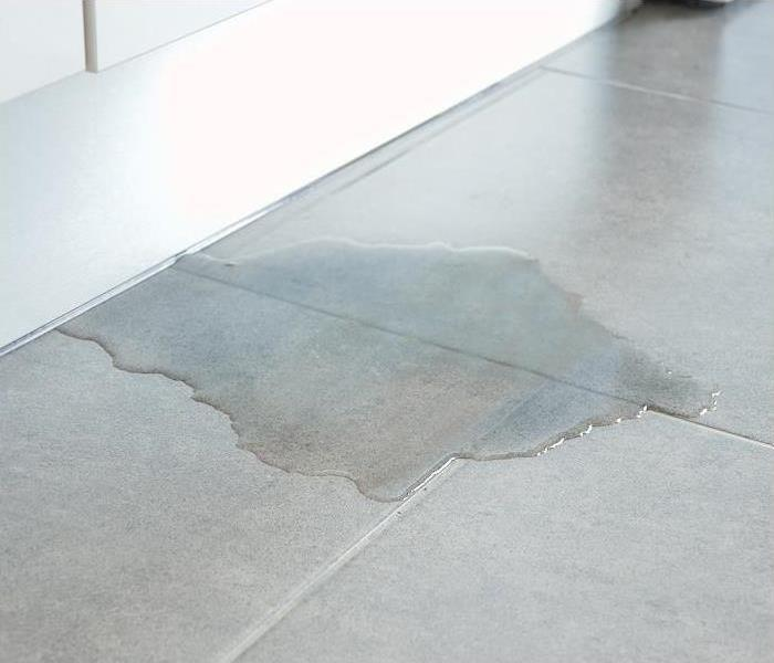 Water Damage on Office Floor