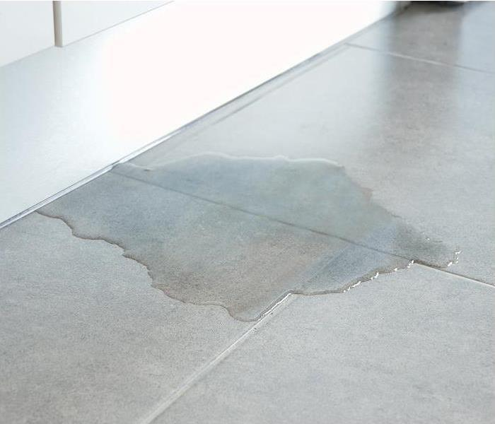 Hidden water leak on tile flooring